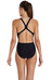 speedo Endurance10 Activeturn Placement - Bañador Mujer - negro